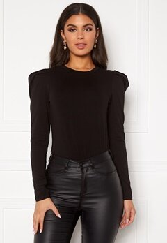 Sisters Point Perle Blouse 000 Black Bubbleroom.no