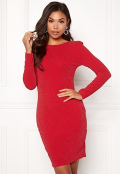 Sisters Point Catrin Lurex Dress 501 Red/Silver Bubbleroom.no