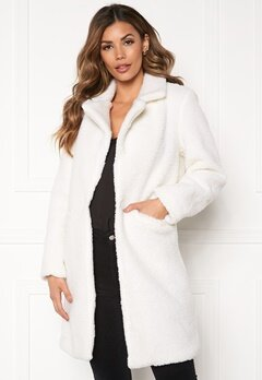 Sixth June Long Sherpa Coat Offwhite Bubbleroom.no