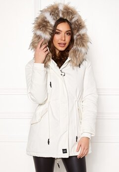 Sixth June Parkas Faux Fur Jacket White/Beige Bubbleroom.no