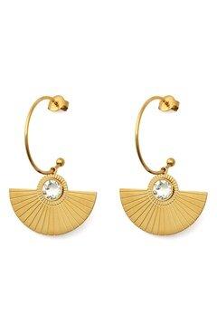 BY JOLIMA Skiathos Earring Pendant Gold Bubbleroom.no