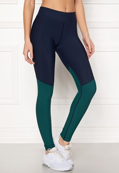 Skins Long Tights Navy Blue/Deep Teal Bubbleroom.no