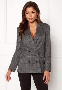 ONLY Slash Double Blazer Medium Grey Melange Bubbleroom.no