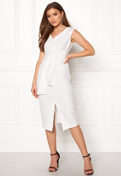 Closet London Sleeveless Midi Dress White Bubbleroom.no