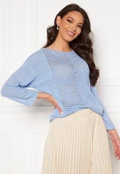 Jacqueline de Yong Smilla 3/4 Pullover Brunnera Blue Bubbleroom.no
