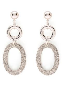 SNÖ of Sweden Doreen Pendant Earring Silver/Clear Bubbleroom.no