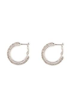 SNÖ of Sweden Doreen Ring Earring Silver/Clear Bubbleroom.no