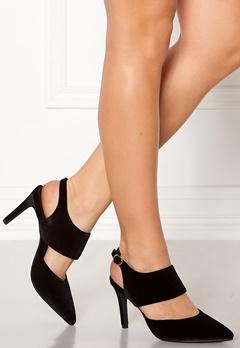 SOFIE SCHNOOR Shoe Open Stiletto Velvet Black Bubbleroom.no