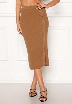 VILA Solda Knit Skirt Dusty Camel Bubbleroom.no