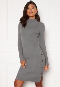 VILA Solto Knit Dress Medium Grey Melange Bubbleroom.no