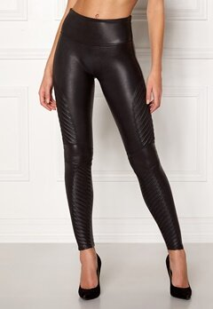 Spanx Moto Leggings Very Black Bubbleroom.no