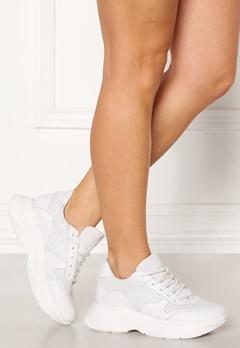 Steve Madden Zela-P Leather Sneaker 107 White Leather Bubbleroom.no