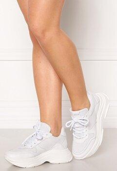 Steve Madden Zela-P Sneaker 107 White Leather Bubbleroom.no