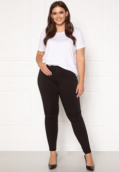Only Carmakoma Storm Push Up HW SK Jeans Black Bubbleroom.no