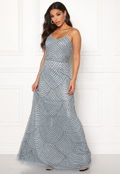 AngelEye Strappy Sequin Maxi Dress Heather Blue Bubbleroom.no