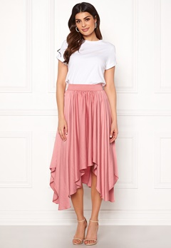 VILA Sulla Asymetric Skirt Brandied Apricot Bubbleroom.no