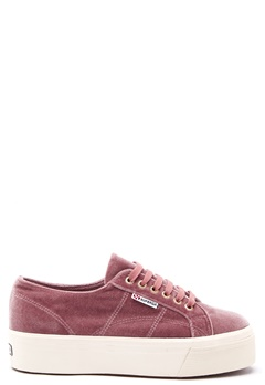 Superga Velvet Sneakers Pink Dusty Rose Bubbleroom.no
