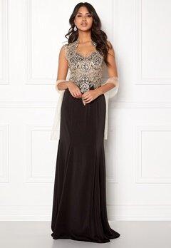 SUSANNA RIVIERI Embellished Mesh Dress Black Bubbleroom.no