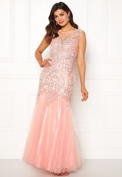 SUSANNA RIVIERI Embellished Shine Dress Blush Bubbleroom.no