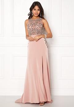 SUSANNA RIVIERI Emballished Sparkling Dress Blush Bubbleroom.no