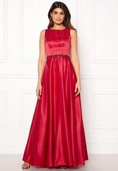 SUSANNA RIVIERI Ceremonial Satin Dress Red Bubbleroom.no