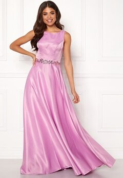 SUSANNA RIVIERI Ceremonial Satin Dress Violet Bubbleroom.no