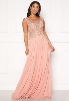 SUSANNA RIVIERI Dream Chiffon Dress Blush Bubbleroom.no