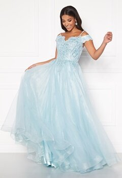 SUSANNA RIVIERI Elsa Prom Dress Ice Blue Bubbleroom.no