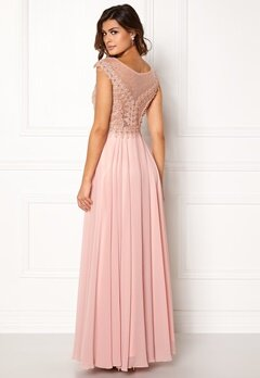 SUSANNA RIVIERI Embellished Beaded Dress Blush Bubbleroom.no