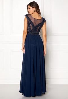 SUSANNA RIVIERI Embellished Beaded Dress Navy Bubbleroom.no