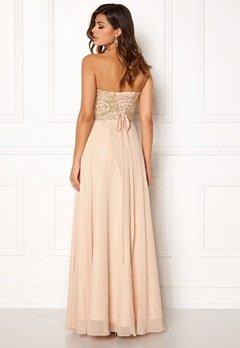 SUSANNA RIVIERI Embellished Chiffon Dress Champagne Bubbleroom.no