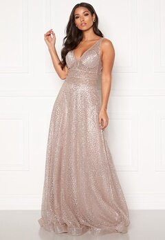 SUSANNA RIVIERI Sparkling Glitter Gown Mauve Bubbleroom.no