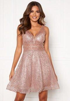 SUSANNA RIVIERI Sparkling Short Glitter Gown Mauve Bubbleroom.no
