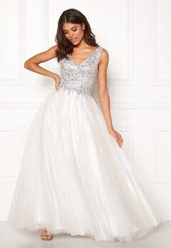 SUSANNA RIVIERI Sparkling Tulle Dress Ivory Bubbleroom.no