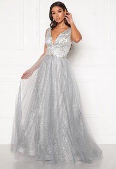 SUSANNA RIVIERI Stardust Gown Silver Bubbleroom.no