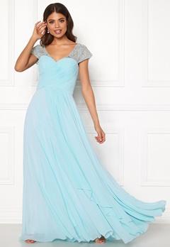 SUSANNA RIVIERI Sweetheart Chiffon Dress Ice Blue Bubbleroom.no