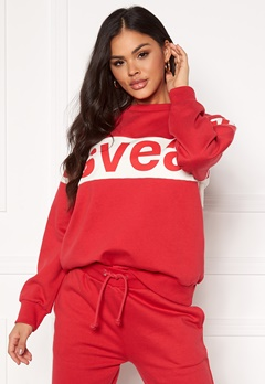 Svea 2 Col Big Svea Logo Crew 400 Red Bubbleroom.no