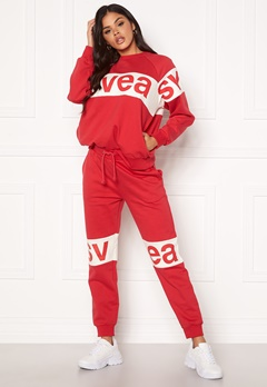 Svea 2 Col Big Svea Logo Sweat Pants 400 Red Bubbleroom.no