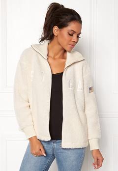 Svea Kathryn Pile Zip Sweater Antique White 023 Bubbleroom.no