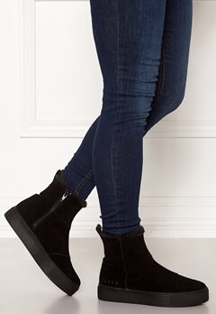 Svea Suede Boots Black Bubbleroom.no