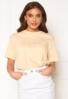 Svea U. Inverted Logo Tee 035 Cream Bubbleroom.no