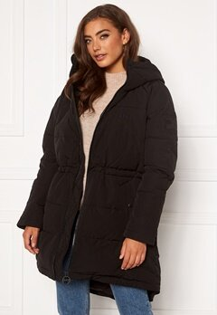 Svea W. Hourglass Puffer Jacket 900 Black Bubbleroom.no