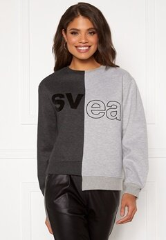 Svea W. Remix Sweat 943 Washed Black / M Bubbleroom.no