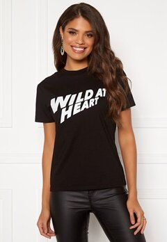Svea W. Wild Heart Tee 900 Black Bubbleroom.no