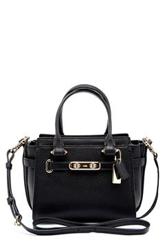 COACH Swegger Leather Bag LIBLK Black Bubbleroom.no