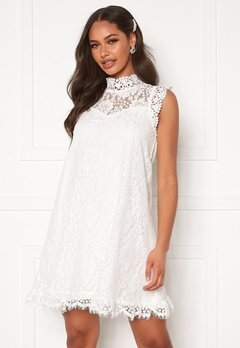 DRY LAKE Swing Dress White Lace Bubbleroom.no