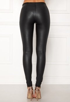 SELECTED FEMME Sylvia Leather Legging Black Bubbleroom.no