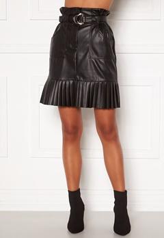 VILA Talina Coated Skirt Black Bubbleroom.no