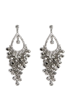Love Rocks Tear Shape Earrings Silver Bubbleroom.no