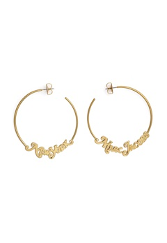 The Marc Jacobs The Logo Hoops Small 710 Gold Bubbleroom.no